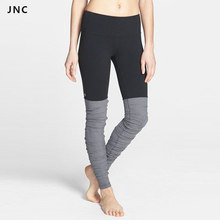 Women's Yoga Pants Running Fitness Sports Compression Tights Goddess Lenggings Yoga Ribbed Pants Gym Sports Trousers Clothing