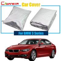 Cawanerl Car Cover Sun Rain Snow Resistant Cover Sun Shade Anti UV Car Cover For BMW 3 Series