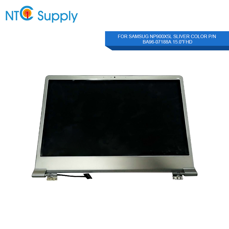 MEIHOU For Samsug NP900X5L BA96-07188A Laptop LCD Screen Notebook  Silver 15.0 inch FHD 1920*1080 IPS Full LCD Assembly