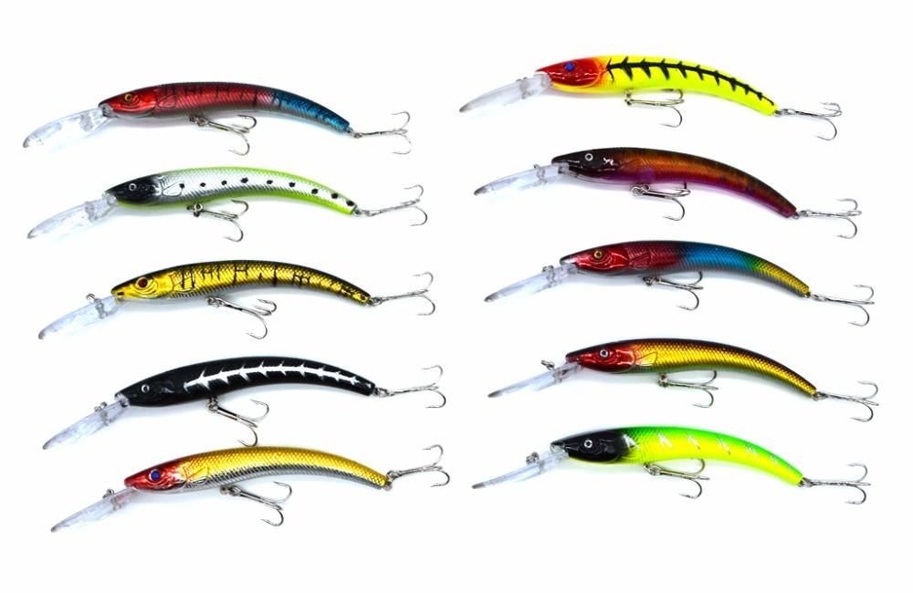 8 ngjyra 15.5cm / 6.1in 15.7g / 0.55oz Peshkimi Lure Minnow Hard Bait me 2 Hooks Peshkimi Trajtimi i Peshkimit Lure 3D Eyes