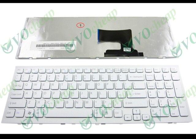 ของแท้ใหม่โน้ตบุ๊คแป้นพิมพ์สำหรับแล็ปท็อปสำหรับ Sony Vaio VPC EH VPCEH PCG 71911L PCG 71912L PCG 71913L   71914L   71811L   71811 M สีขาว