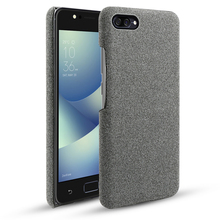 For Asus ZenFone 4 Max ZC520KL ZC554KL Case Slim Fabric Woven Cloth Anti-slip Hard Case For Asus ZenFone 4 Selfie ZD553KL Cover смартфон asus zenfone 4 selfie zd553kl black 90ax00l1 m01490