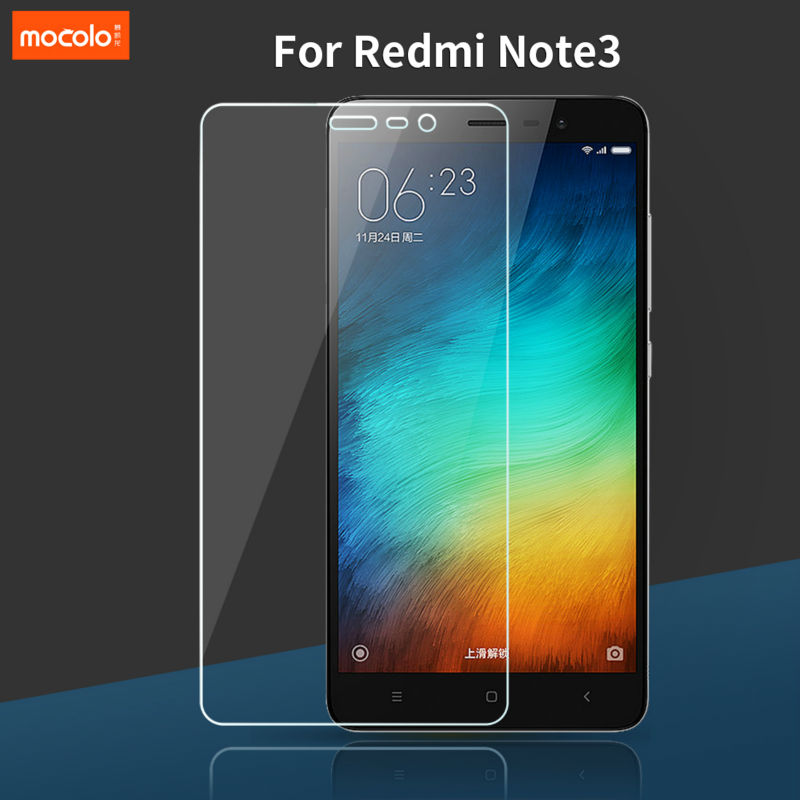 Mocolo For Xiaomi Redmi Note 3 Pro Hongmi Note 3 Tempered Glass Screen Protector 0.33mm 2.5D Curved Edge with Retail Packaging
