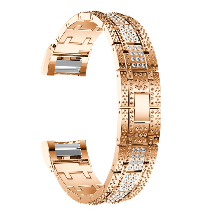Carprie New Luxury Alloy Crystal Watch Band Wrist Strap With Metal ...