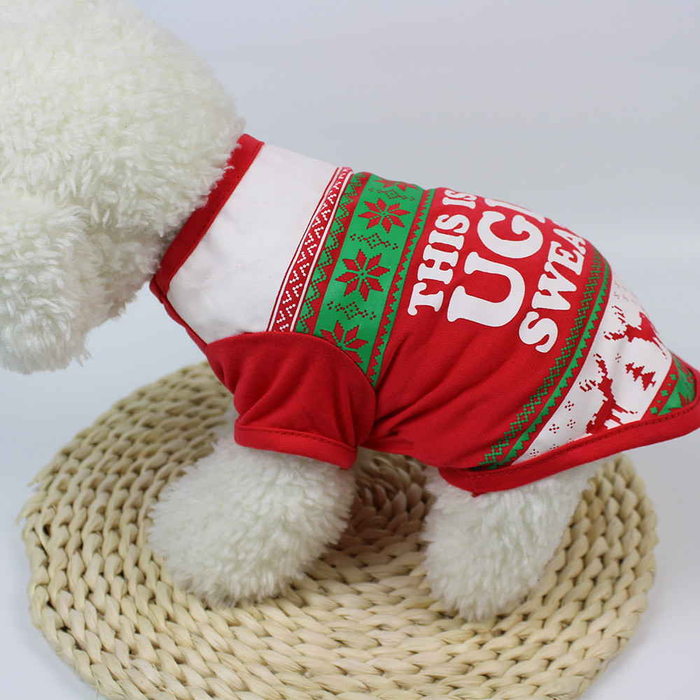 Small Dogs Costume Clothes For Little Dogs Overalls Lovely Christmas Dog Clothing Cotton T shirt Puppy Costume