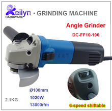 1020W 220V 13000r/m Wheel Dia 100mm Speed Siftable Angle Griender Polishing Machine Grinding Tool DC-FF10-100