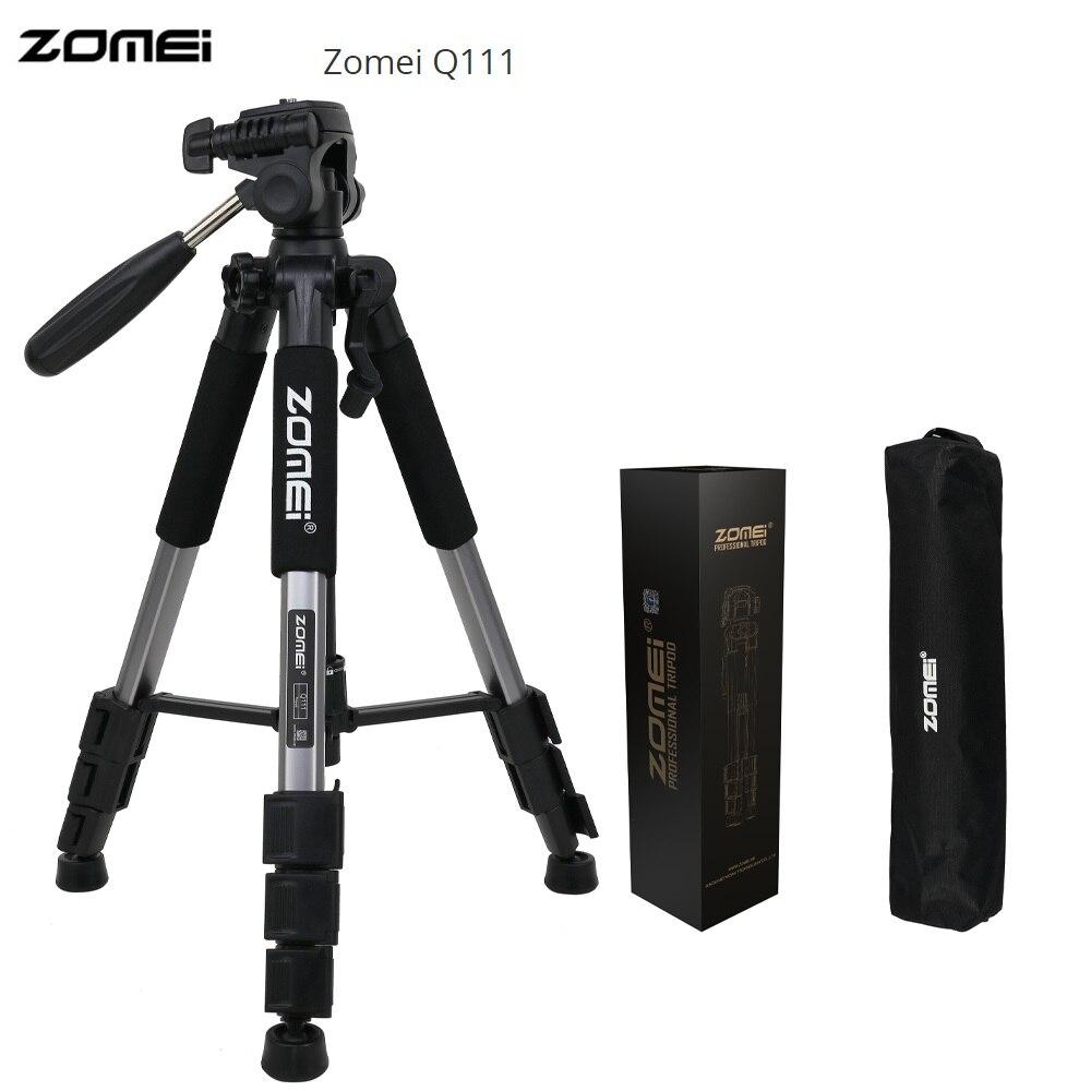 Zomei Q111 56 pollice Leggero Professionale Telecamera Portatile Treppiede Viaggio Treppiede In Alluminio