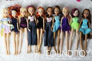 Free Shipping 2019 2pcs Winx Dolls For Girls Gift doll accessories for barbi doll(China)