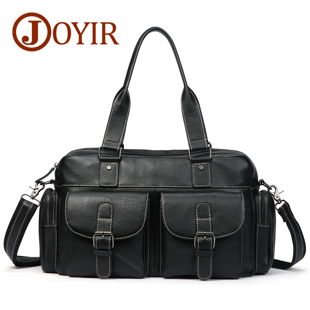JOYIR 2017 Genuine Leather Men Casual Shoulder Bags Wax Oil Leather Crossbody Bag Men Tote Bags Handbag for Male Men Bag A-061