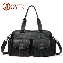 JOYIR 2019 Genuine Leather Men Casual Shoulder Bags Wax Oil Crossbody Bag Tote Handbag for Male A-061