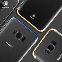 BASEUS Marka ARC Galwanizacja Ciężka PECET Przezroczysty Case Powrót Do Samsung Galaxy Note 8/S8 Plus/S8 Wykwintne Pokrywą Ochronną