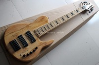 6 string bass guitar with active pickup neck through maple foder
