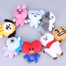 Kpop ARMY BTS Bt21 Cute Doll Bangtan Boys Jimin Same Chain Fashion Korean Blackpink Accessories Jimin Red Velvet Kpop Keychain(China)