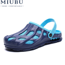 MIUBU 2019 New Summer Jelly Shoes Men Beach Sandals Hollow Slippers Men Flip Flops Light Sandalias Outdoor Summer Shoes Chanclas uexia new big size 36 45 men summer shoes beach lovers unisex flip flops mens slippers lighted sandalias outdoor chanclas hombre