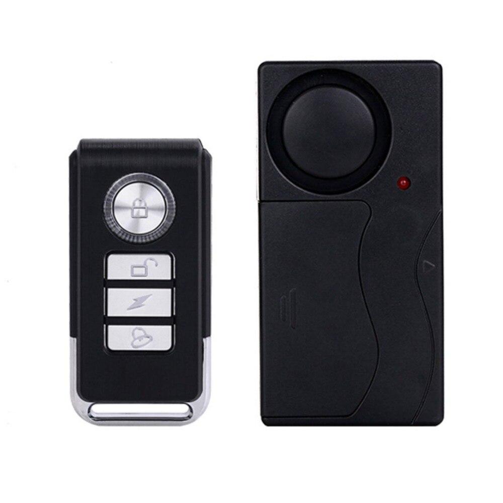 Practical Wireless Remote Control Vibration Alarm Sensor Door Window Car Home House Security Sensor Detector wireless remote control vibration security alarm independly door window detector black