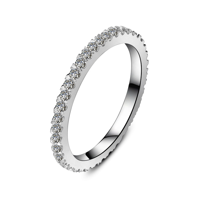 bonzer genuine 055ct synthetic diamonds wedding band for women match all engagement style best band