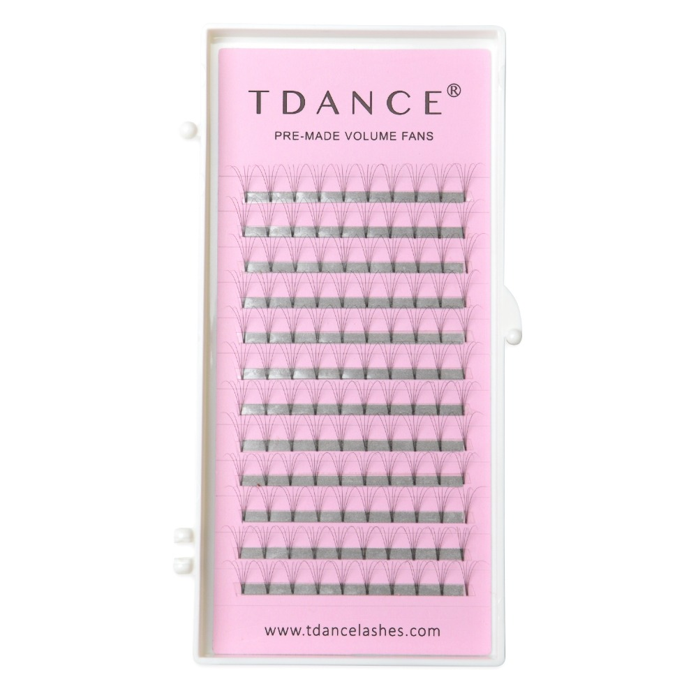 TDANCE Eyelash Extension Supplies Eyelashes Lashes 0.07 0.10mm Thickness Pre-fan 3D 4D5D 6D 7D Russian Volume Lashes Extensions(China)