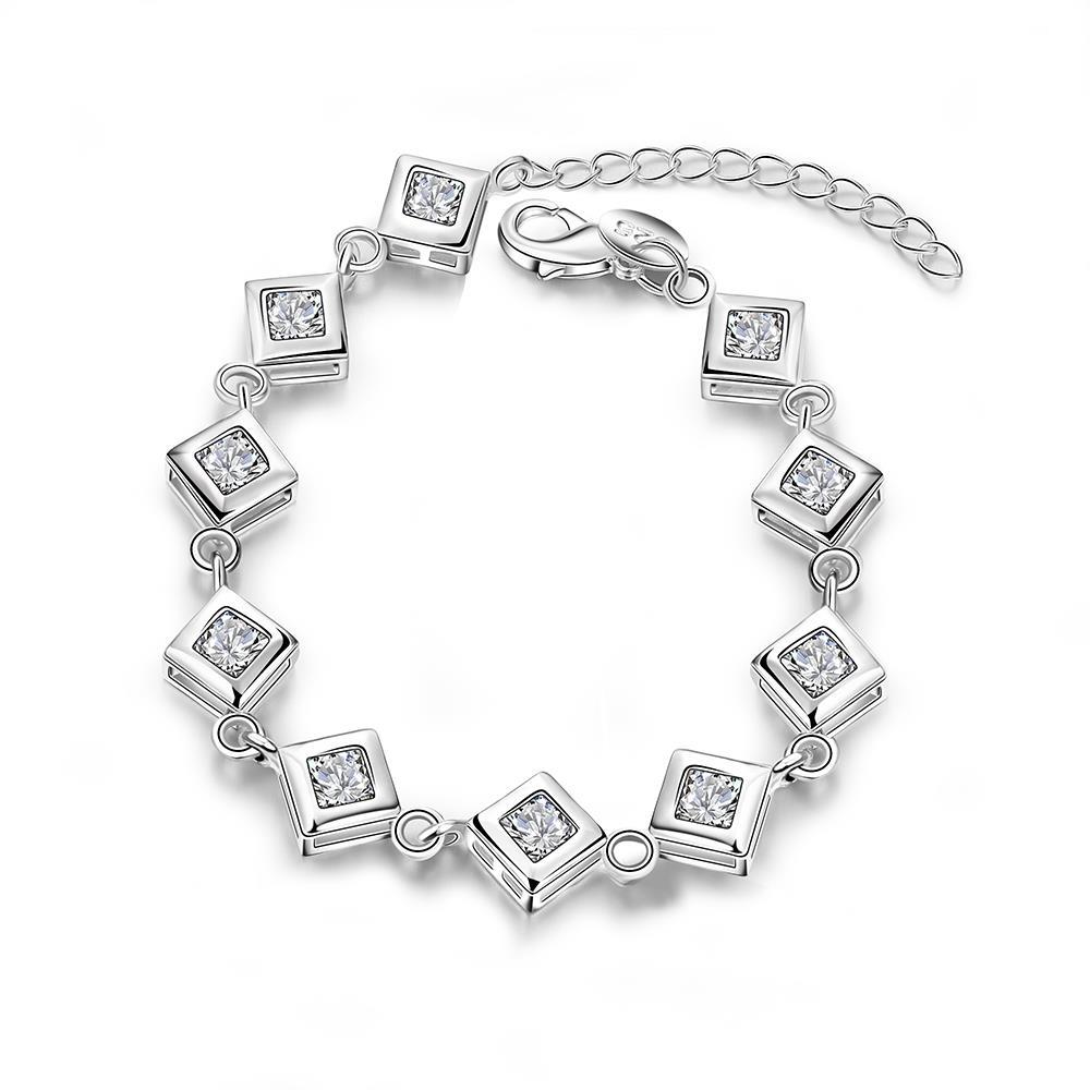 fcfc0cc826a5 Venta caliente nueva plata hermosa de la manera plateó rejilla hombres  pulsera joyería de moda fina SMTH387