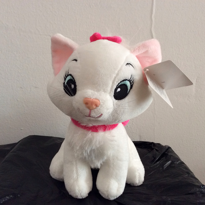 Sitting height 20cm The Aristocats Cat plush toy 7.9'' Marie Cat Animals Stuffed Soft kids doll for girl gift
