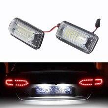Doğrudan değiştirme beyaz 2X için LED plaka ışıkları Toyota FT86 LED ışık ampuller arabalar için arabalar için LED lambalar