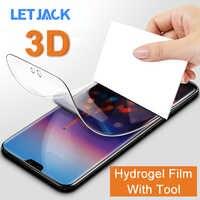 Película de hidrogel suave de protección completa 3D para Huawei P20 Pro P10 Lite P9 Plus Nova 3 3i 3E 2 2S Plus Protector de pantalla sin vidrio