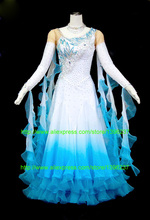 Flamenco dress High quality Tango Ballroom Dance Dress, 2016 New Smooth Dress ballroom competition gowns