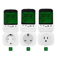 TS 4000 Multi Function LCD Thermostat Timer Switch Socket With Sensor Probe Green Backlight 3 Random