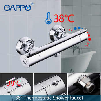 GAPPO bathroom shower faucet set thermostatic shower chrome bathroom mixer wall mounted thermostat shower mixer tap bathtub taps - DISCOUNT ITEM  51% OFF All Category