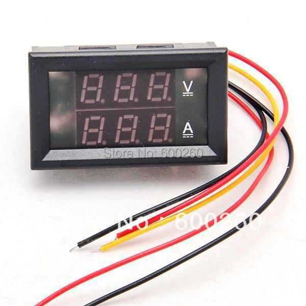 DC 3.5-30V 0-50A Dual LED Digital Volt meter Ammete Voltage AMP Power free shipping