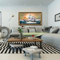 Modern Decor Abstract Oil Painting Europe Style Sailboat Seascape Wall Art Painting Pictures Hand Painted On Canvas
