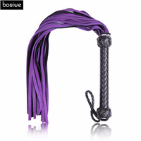 Adult Games Hand Made Genuine Leather Whip Sex Fetish Leather Flogger Horse Whip Horse Racing Flogger