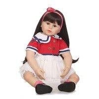 NPKCOLLECTION 23 силиконовая возрождается малыш принцесса куклы с мягкой натуральной Touch детские Reborn Детские Playmate и игрушки