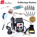 YOUYUE 8586 110V / 220V 700W 2 in 1 SMD Rework Soldering Station Hot Air Gun + Solder Iron With Free Gifts