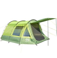 Large tunnel tents anti rain 2 rooms camping tent 5 8 person outdoor 2 layer driving filed tent Canopy ventilation and easy use