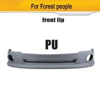 PU Car Front Bumper Lip Spoiler for Subaru Forester 2008 2009 2010 Car Sticker Spoiler