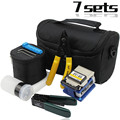 Fiber Optic Set Of Tools  FTTH Splice  Fibre Stripper + FC-6S Fiber Cleaver And Tools Bag Kit