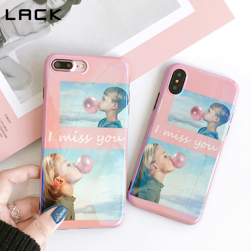LACK Candy Color <font><b>Bubble</b></font> Phone Cases For iphone X Case For iphone 7 6 6s 8 Plus Fashion Letter Cute Boy Girl Soft IMD Cover Coque