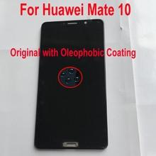 100% Original Testado Trabalhando Para Huawei Companheiro 10 ALP L09 ALP L29 Sensor de LCD Screen Display Toque Digitador Assembléia + Quadro
