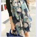 180*80 см высокой хорошее качество тонкий срез женщин шелковый шарф, шаль
