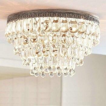Candelabro decorativo Vintage moderno, accesorios de iluminación, candelabros led para comedor, Dormitorio en casa, lámpara Led E14 Crystal 220v
