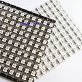 100pcs ws2812 individually addressable rgb full color ws2812b led emitter chip with white/black heatsink dc 5v free shipping