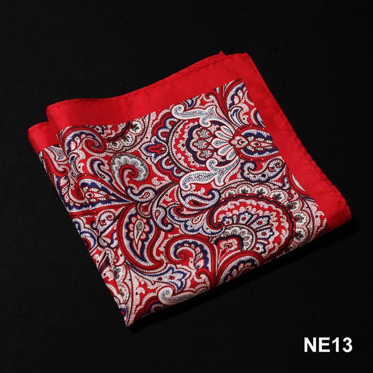 NE13 HN08R Red Navy Blue Paisley