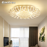 Modern Novelty Living Room Ceiling Lights Creative Bird S Nest Fixtures LED Crystal Lamps Bedroom Nordic