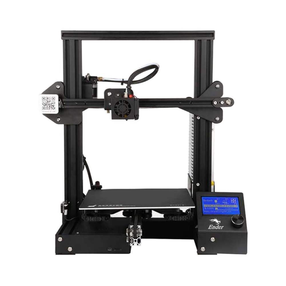 CREALITY 3D Printer Ender 3/Ender 3X Upgraded Tempered Glass Optional V slot Resume Power Failure Printing DIY KIT Hotbed