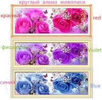 Diamond Painting Mood Full Diamond Super Flash Round Diamond Painting Cross Stitch Bag Mail Rose
