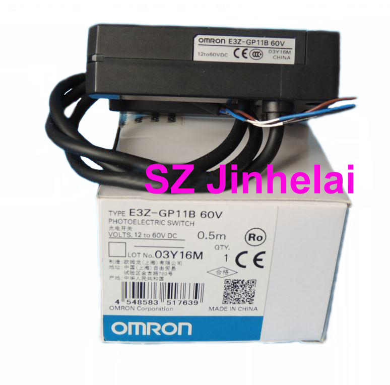 OMRON E3Z-GP11B 60V Authentic original Photoelectric switch 0.5M  12-60VDCOMRON E3Z-GP11B 60V Authentic original Photoelectric switch 0.5M  12-60VDC