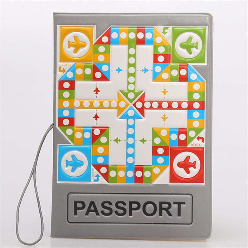 Pludo Flash Ludo Flight Game 3D Design Fashion Passport Holder Cover ID Package Travel Accessories Ticket Protective Case Gift