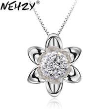 NEHZY 925 ayar gümüş yeni kadın takı kolye kolye moda kolye çiçek ayçiçeği tatlı prenses güzel 8MM