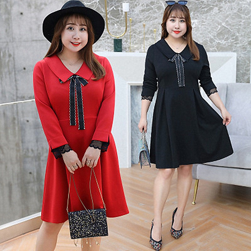 2019 Spring New Plus Fat Extra Large Size Womens MM Slim Dress Breathable Multi-color Shirt