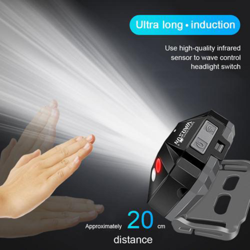 Mini Headlight 210° Lighting Camping Hiking Hunting Lights 3A Battery Flashlight Defense Flashlight Stick